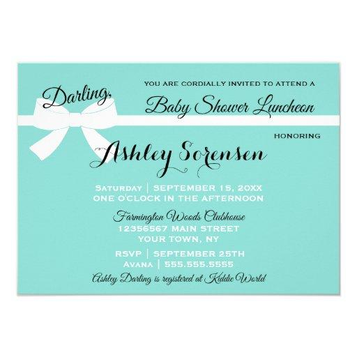 Baby & Company Sprinkle Shower Tiara Party Invitation
