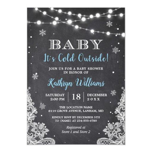 Baby It's Cold Outside Winter Boy Baby Shower