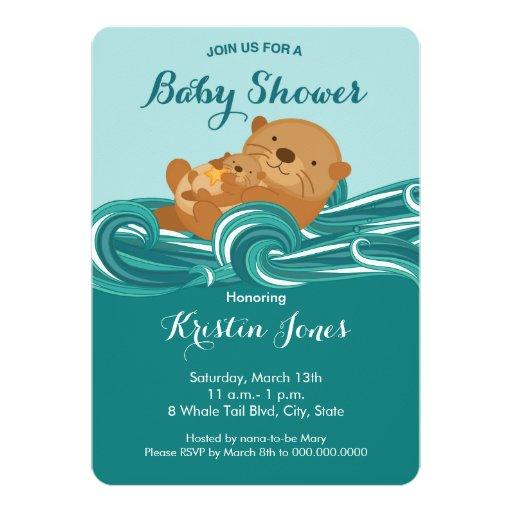 Baby Otter Baby Shower Invitation