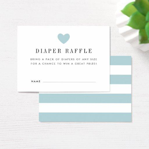 Baby Shower Diaper Raffle Ticket  | Blue