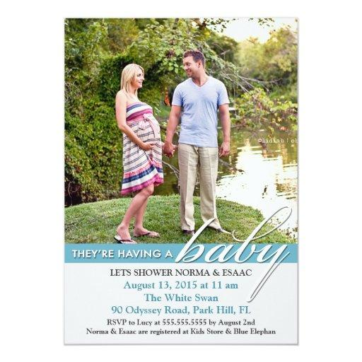 Baby Shower Photo Flat Invitation