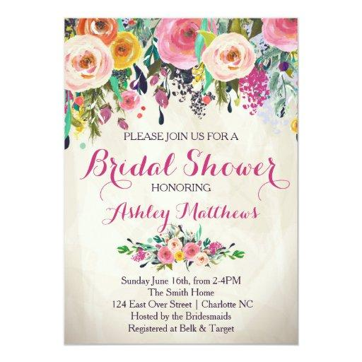 Beautiful Floral Baby Shower Invitation, Baby