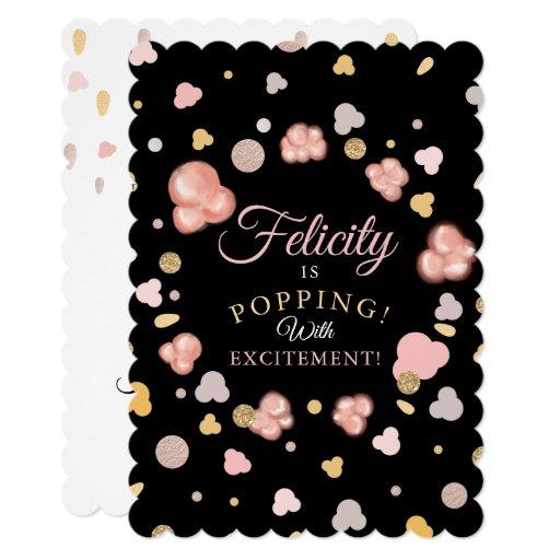 Bursting Popping Popcorn Baby Shower Invitation