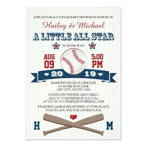 COUPLES ALL STAR BASEBALL BABY SHOWER