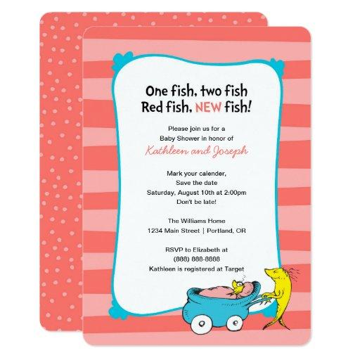 Dr. Seuss | One Fish - Girl Baby Shower Invitations