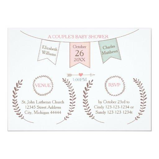 Elegant Bunting - Couple's Baby Shower
