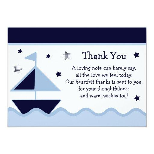 Nautical/Sailboat/Navy Baby Shower Thank You