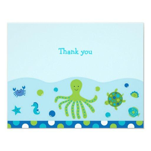 Nautical Under the Sea Flat Thank You Note Invitations