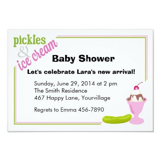 Pickles & Ice Cream Baby Shower