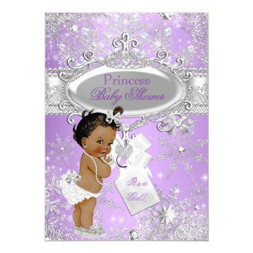 Purple Princess Winter Baby Shower Ethnic