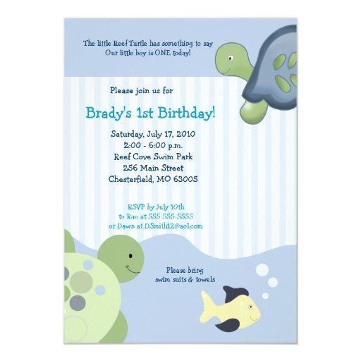 REEF TURTLE & Fish Custom Birthday
