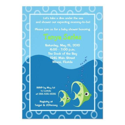 Sealife Fish Ocean Baby Shower