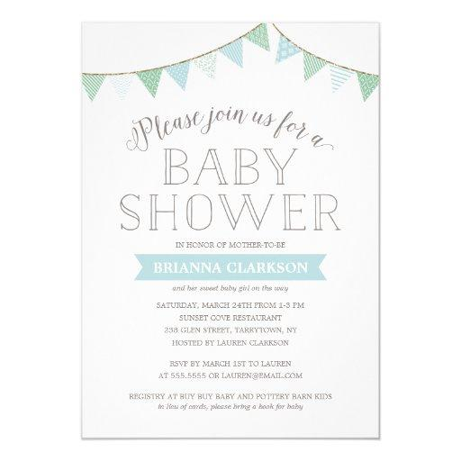 Shabby Chic Banners Blue | Baby Shower