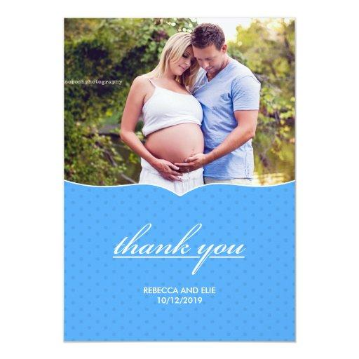 Thank You Baby Shower Photo Flat