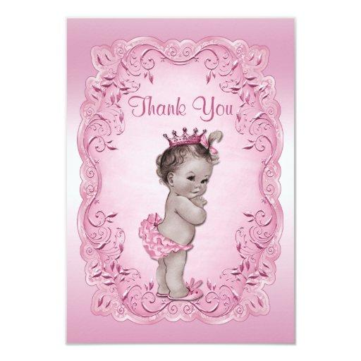 Thank You Pink Vintage Princess Baby Shower