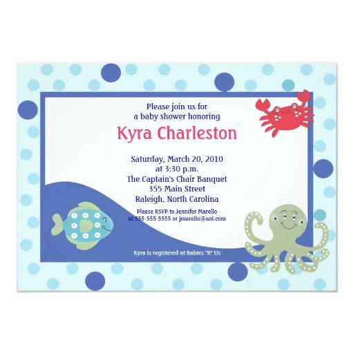Under the Sea Calypso Ocean Baby Shower