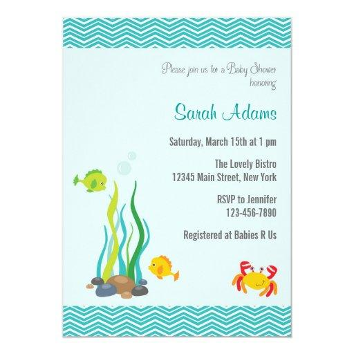 Under The Sea Baby Shower  Ocean Blue