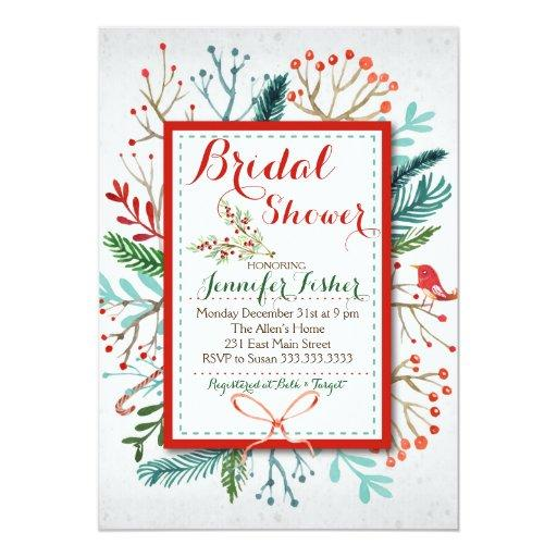 Watercolor Winter Floral Baby Shower Invitations