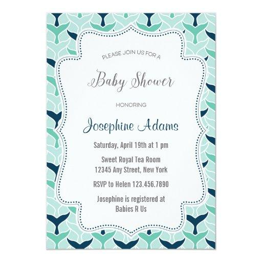 Whale Tail Pattern Baby Shower