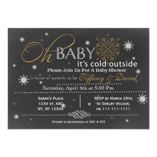 Winter Snow unisex Couple's Baby shower