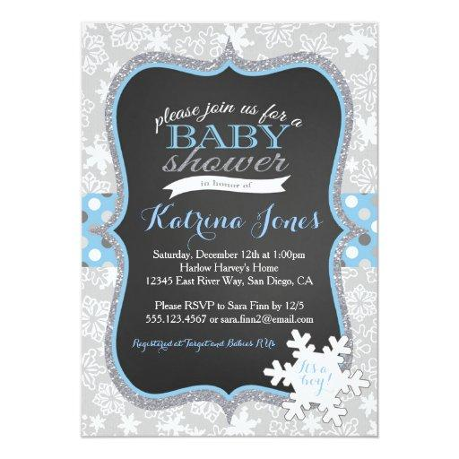 Winter Wonderland Snowflake baby shower