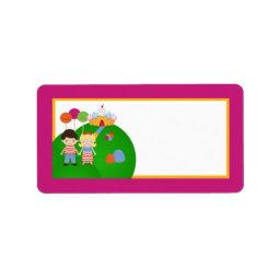 "1.25""x2.75"" Mailing Address Candy Land Ice Cream Label"