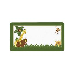 "1.25""x2.75"" Mailing Address Jungle Babies Label"