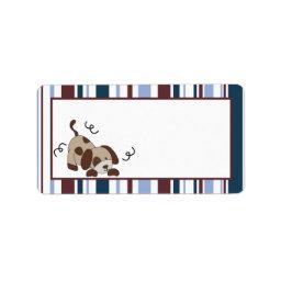 "1.25""x2.75"" Mailing Address Lil League Puppy Dog Label"
