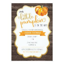 A Little Pumpkin Baby Shower