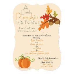 A Little Pumpkin Baby Shower Invite