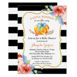 A Little Pumpkin is On the Way | Boy Baby Shower