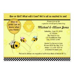 Adorable BEE Gender Reveal Baby Shower