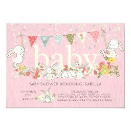 Adorable Bunny Girls Baby shower