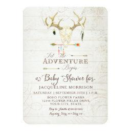 Adventure Boy Baby Shower Teepee Wood Arrows Deer