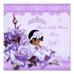 African American  Girl Butterfly Lilac