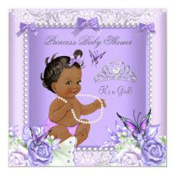 African American Lavender Gray  Girl