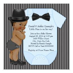 African American Little Man Baby Boy Shower