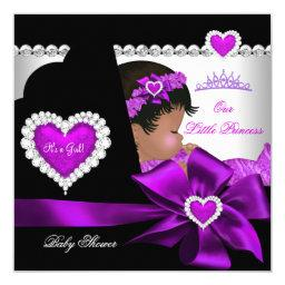 African American Princess  Girl Purple