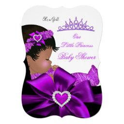 African American Princess Baby Shower Girl Purple