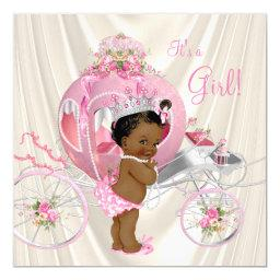 African American Princess Baby Shower Pearl