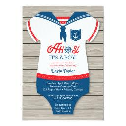 Ahoy  Invitation, Sailor, Nautical