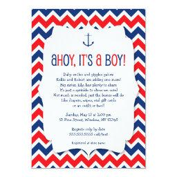 Ahoy it's a boy  invite / nautical