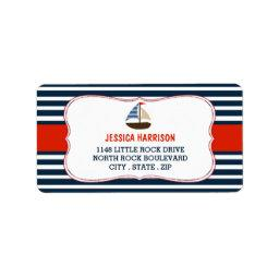 Ahoy It's A Boy! Nautical Boat  Labels