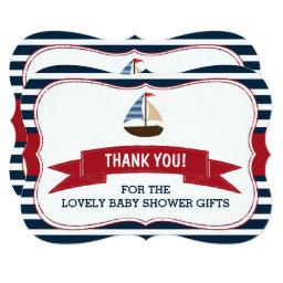 Ahoy It's A Boy! Nautical Boat Baby Shower Thanks