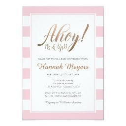 Ahoy! It's A Girl Nautical Baby Shower