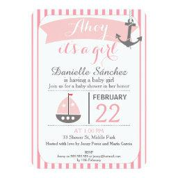 Ahoy It's A Girl Nautical Baby Shower