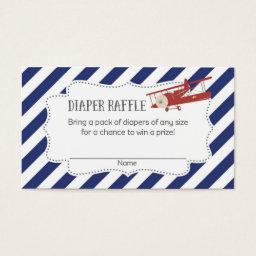 Airplane  Diaper Raffle Tickets