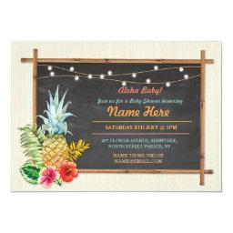 Aloha Baby! Shower Chalk Pineapple Luau