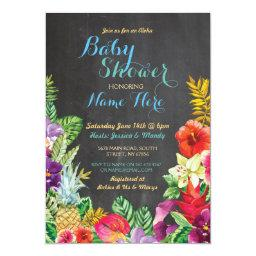 Aloha  Tropical Luau Boy Blue Invite