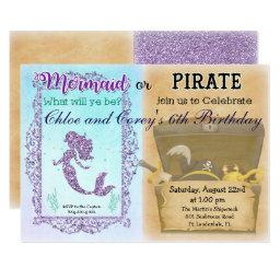 ANY AGE - Mermaid or Pirate Birthday
